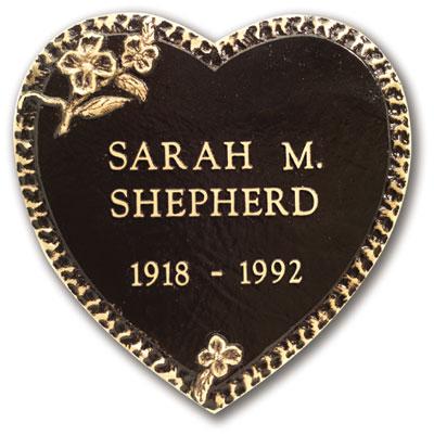 Wow Amazing Bronze Grave Marker Heart Designs